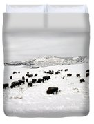 Bison Paw Away Snow With Head Duvet Cover