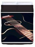 Black Acoustic Guitar Duvet Cover