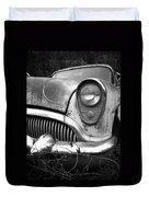 Black An White Buick Duvet Cover