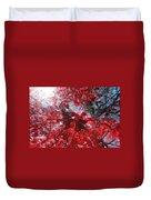 Black And Red Crescendo Duvet Cover