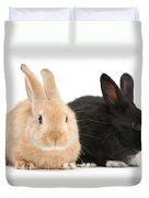 Black And Sandy Rabbits Duvet Cover