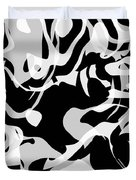Black And White Abstract Art Duvet Cover