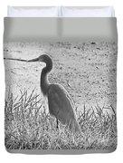 Black And White Egret  Duvet Cover