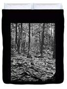 Black And White Forest Duvet Cover