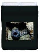 Black And White Honeycomb Moray Eel Duvet Cover