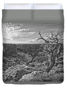 Black And White Image Of Tree Duvet Cover