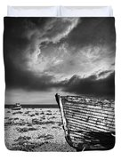 Black And White In Dungeness Duvet Cover