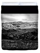Black And White Painted Hills Duvet Cover
