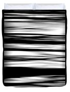 Black And White Striped Wave Pattern Duvet Cover