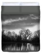 Black And White Sunrise Over Water Duvet Cover by James BO  Insogna