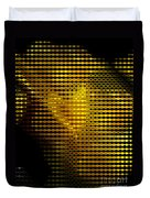 Black And Yellow Abstract I Duvet Cover