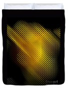 Black And Yellow Abstract II Duvet Cover