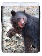 Black Bear Bloodied Lunch Duvet Cover