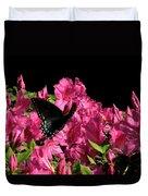 Black Beauty In Flight Duvet Cover