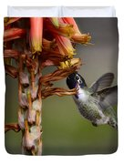 Black Chinned Hummingbird  Duvet Cover