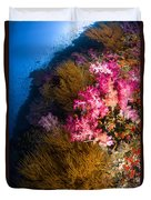 Black Coral And Soft Coral Seascape Duvet Cover