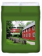 Black Creek Poster Duvet Cover