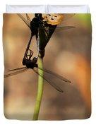 Black Dragonfly Love Duvet Cover