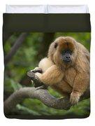 Black Howler Monkey Alouatta Caraya Duvet Cover