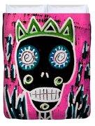 Black King Sugar Skull Angel Duvet Cover