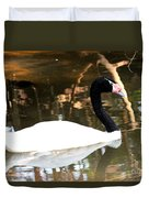 Black Neck Swan Duvet Cover