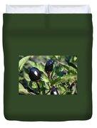 Black Olive Pepper Duvet Cover