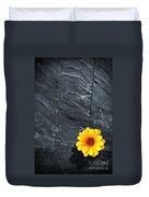 Black Schist Flower Duvet Cover by Carlos Caetano