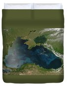 Black Sea Phytoplankton Duvet Cover by Nasa