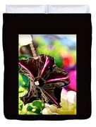 Black Spider Petunia Duvet Cover