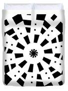 Black Spirale Duvet Cover