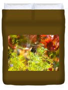 Black Swallow Tail Butterfly In Autumn Colors Duvet Cover