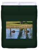 Black Swan's In Palm Springs Duvet Cover