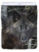 Black Timber Wolf Duvet Cover
