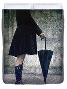 Black Umbrellla Duvet Cover by Joana Kruse