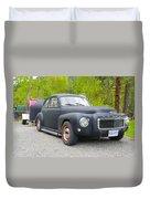 Black Volvo Duvet Cover