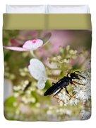 Black Wasp 1 Duvet Cover
