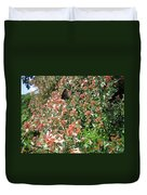 Black With Orange Dots Butterfly Duvet Cover