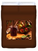 Blackberry And Apple Jam Duvet Cover by Amanda Elwell