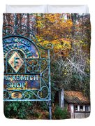 Blacksmith Shop Duvet Cover by Debra and Dave Vanderlaan