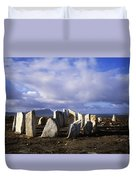 Blacksod Point, Co Mayo, Ireland Stone Duvet Cover