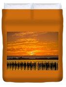 Blazing Humboldt Bay Sunset Duvet Cover