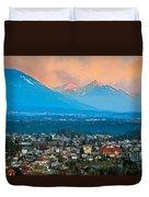 Bled City And Breg. Slovenia Duvet Cover