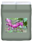 Bleeding Heart Duvet Cover by Gail Jankus and Photo Researchers