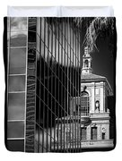 Blending Architecture Black And White Duvet Cover
