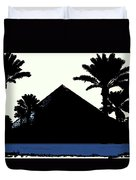 Blk And Wt Pyramid3 Duvet Cover