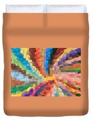 Blocks Of Color From A Pen And Ink Drawing Duvet Cover