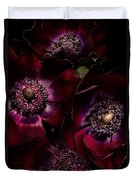 Blood Red Anemones Duvet Cover