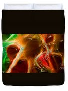 Blood Work Triptych Panel 3 Duvet Cover