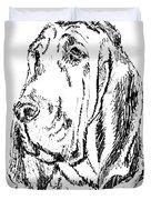 Bloodhound-art-portrait Duvet Cover