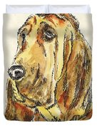 Bloodhound-watercolor Duvet Cover